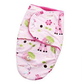 Harga Baby Short plush double little swaddle Gray monkeys and giraffe