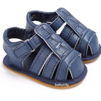 รองเท้าหัดเดิน รองเท้าเด็กอ่อน รองเท้าเด็กพื้นผ้า baby shoe Prewalker ของใช้เด็กอ่อน รองเท้าทารก รองเท้าเด็กเล็ก รองเท้าบูทเด็กอ่อน สีน้ำเงิน