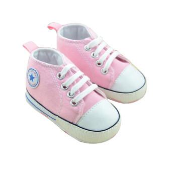 Gracefulvara 1 คู่หนุ่มสาวน่ารักรองเท้าทารกแรกเกิดเด็กทารก Prewalker นิ่มพื้นรองเท้ากันลื่น (สีชมพู)