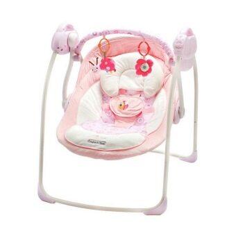 baby_kidsonline เปลไกวอัตโนมัติ 2 in 1 ใช้ได้ทั้งไฟบ้านและถ่าน (สีชมพู)