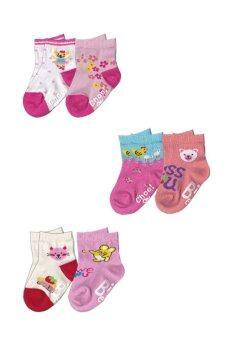 Dsox ถุงเท้าแฟชั่นสำหรับเด็กหญิง 6-12 เดือน แพ็ค 6 คู่ ( Multicolor )