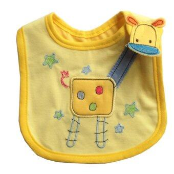 ผ้ากันเปื้อน ผ้าซับน้ำลายเด็ก สีเหลืองgiraffe