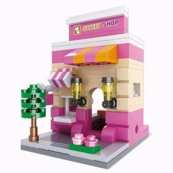 Baby Station ของเล่นเสริมทักษะ ตัวต่อ ชุด Mini Street ร้าน Sweet Shop 194 ชิ้น