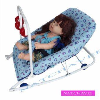 check ราคา NATCHAVEE เปลโยกเด็กอ่อน สำหรับนอนเล่น หรือนอนป้อนข้าว รุ่น J12 มีของเล่น เปรียบเทียบราคา