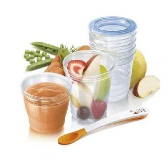AVENT ชุดถ้วยเก็บอาหารสำหรับเด็ก Philips VIA Baby Food Storage Set ( bpa free )