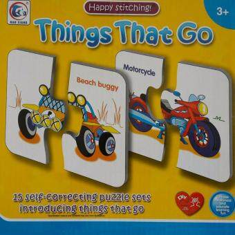 Baby Station ของเล่นเสริมทักษะ จิ๊กซอว์สองส่วน Things that go