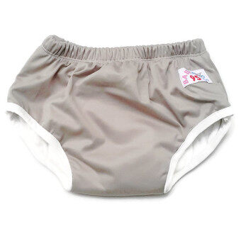 BABYKIDS95 กางเกงผ้าอ้อมแบบสวม รุ่นแบมบู กันน้ำ Size:L รอบเอว 16-22 นิ้ว (สีเทา)