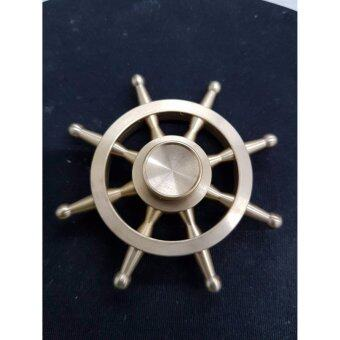 Fidget Spinner ลูกข่างมือหมุน finger gyro Tri-s Pinner ของเล่นอยู่ไม่สุข, รุ่นพวงมาลัยเรือ