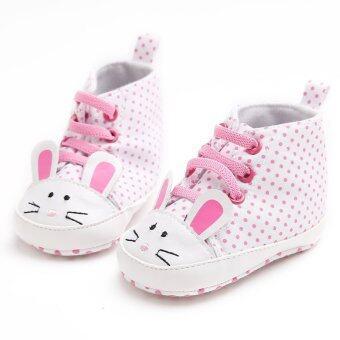 ขาว ๆ ลื่นพื้นรองเท้าทารกแรกเกิดร้อนรองเท้าเด็กหนุ่มสาวบนรองเท้าผ้าฝ้ายพู่ S1435 - Intl