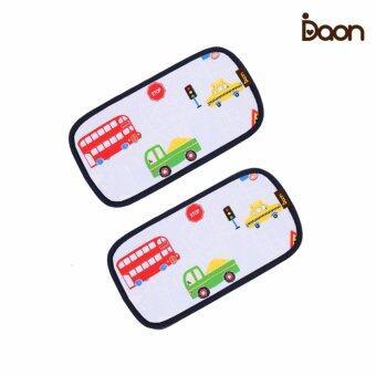 Daon หมอนหนุนระบายอากาศ - เด็กแฝด 3D Air Mesh Pillow-My Car 2PCS ลายรถ สีฟ้า (จำนวน 2 ใบ)