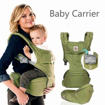 Harga Multifunctional baby Carrier baby sling Baby Hipseat Carrier (MY33Green) - intl