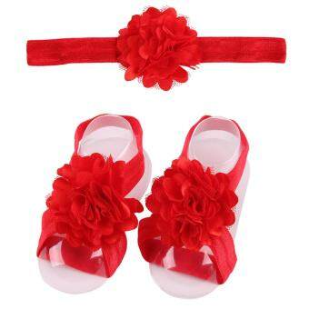 Harga Bear Fashion Baby Infant headband Footband Foodwear Flower Lace Hair Band Hair Accessories Newborn Baby Girls accessories - intl