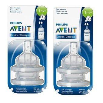 Philips Avent จุกนมไหลช้า (2 รู) เด็ก 1-3 เดือน - แพคคู่
