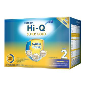 HI-Q ไฮคิว นมผง ซูเปอร์โกลด์ 2 SYNBIO PROTEQ รสจืด 3000 กรัม