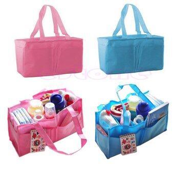 กระเป๋าผ้าอ้อมเด็กทารกที่มีมารดาเก็บกระเป๋าถือกระเป๋าผ้าอ้อมท่องเที่ยวออแกไนเซอร์ (สีชมพู)