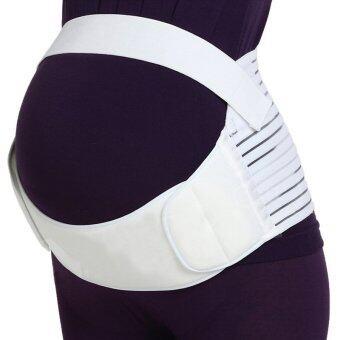 Paragon เข็มขัดพยุงครรภ์แบบเต็มตัว เข็มขัดคนท้อง สายรัดเอวแก้ปวดหลังสำหรับคุณแม่ตั้งท้อง ช่วยพยุงท้อง พยุงหลัง ลดอาการปวดหลัง (แบบเต็มตัว - สีขาว) Adjustable Maternity Support Pregnancy Belt