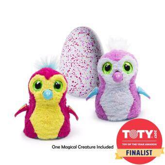 HATCHIMAL - ตุ๊กตาฟักไข่ - HATCHIMALS PENGUALAS PINK EGG AST (TRU - 11441)