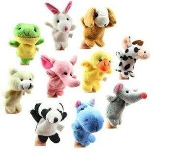 Smartbabyandkid ตุ๊กตานิ้วรูปสัตว์ 10 ตัว