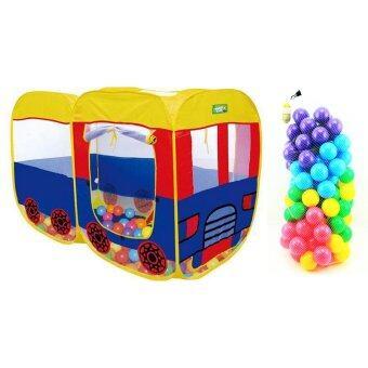 Toysplus บ้านบอล เต้นท์รถบัส พร้อมลูกบอลหลากสี 100 ลูก