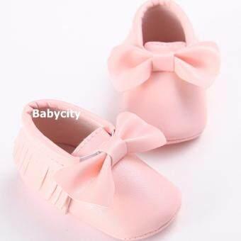 รองเท้าหัดเดิน รองเท้าเด็กอ่อน รองเท้าเด็กพื้นผ้า baby shoe Prewalker ของใช้เด็กอ่อน รองเท้าทารก รองเท้าเด็กเล็ก รองเท้าบูทเด็กอ่อน สีชมพู