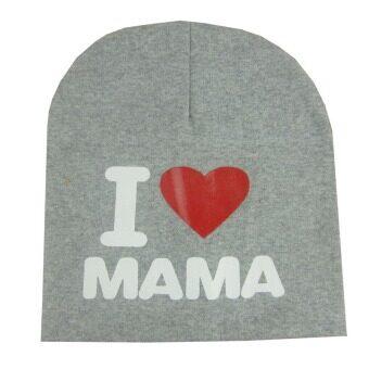 Amart เด็กทารกน่ารัก ๆ เพศสวมหมวกผ้าหมวกฤดูหนาวดาวสีเทา