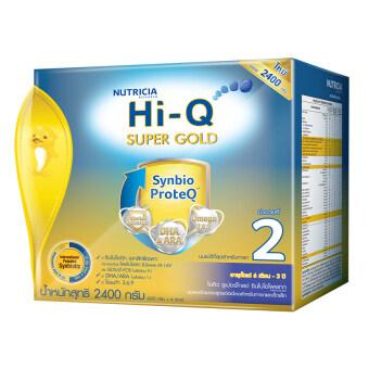 Hi-Q ไฮคิว นมผง ซูเปอร์โกลด์ 2 SYNBIO PROTEQ รสจืด 2400 กรัม