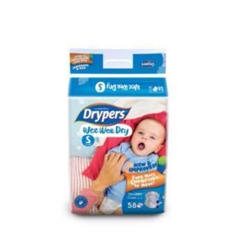 Drypers ผ้าอ้อมสำหรับเด็ก รุ่น WWD S 58 ชิ้น