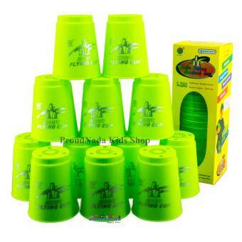 Harga ProudNada Toys Stack Cup เกมส์เรียงแก้ว(สีเขียว) Magic flying stacked cup 12 PCS Rapid cup NO.P12