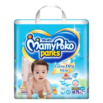 Mamy Poko กางเกงผ้าอ้อม รุ่น Extra Dry Skin ไซส์ M 76 ชิ้น (สำหรับเด็กชาย) (image 1)