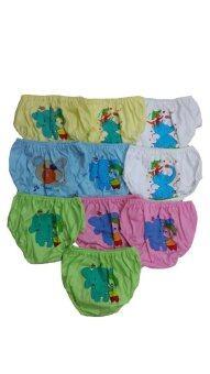 DD Kids กางเกงในเด็กหญิง เลเบลวีด้า คละลาย - คละสี (เซ็ต 10 ตัว)