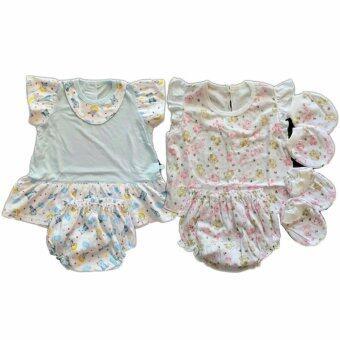 BABYKIDS95 ชุดเด็กอ่อน แรกเกิด-6 เดือน ผ้ายืดนิ่ม 2ชุด รวม 8 ชิ้น (cc-042)