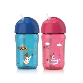 Avent ถ้วยหัดดื่มแบบหลอด12 ออนซ์ สำหรับเด็กอายุ18 เดือนขึ้นไป