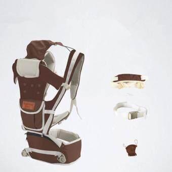 ใหม่ กาแฟ สุทธิ ระบายอากาศได้ 10 ใน 1 มัลติฟังก์ชั่ ผู้ให้บริการทารก Baby Carrier เอว เข็มขัด with เอว ม้านั่ง - intl