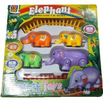 Elephant Train รถไฟช้างวิ่งตามราง