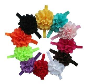 Harga EsoGoal Baby Girls Chiffon Elastic Headband Flower Hair Accessories,Set of 11 - intl