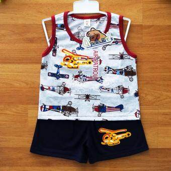 Baby Elegance เสื้อผ้า เด็กผู้ชาย เซ็ต 2 ชิ้น เสื้อกล้ามลายเฮลิคอปเตอร์ กางเกงขาสั้น ไซส์ 24M