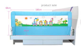 Baby Gift ที่กั้นเตียง ป้องกันเด็กตกจากเตียง 1.8 เมตร (สีฟ้า) (image 3)