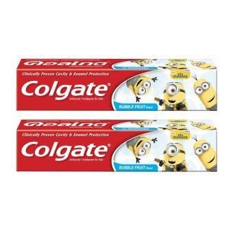 COLGATE คอลเกต ยาสีฟัน รสบับเบิ้ลฟรุต-มินเนี่ยน (แพ็ค2กล่อง)