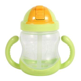 Harga 280ML Baby Cup Drinking Straw Children Feeding Bottle Cups (Green) - intl