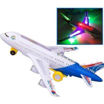 Kids Toys ของเล่นเด็ก เครื่องบิน Air Bus A380 วิ่งได้ มีไฟ มีเสียง