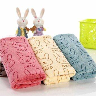 3pcs Cute Rabbit Baby Infant Newborn 20x50CM Bath Towel Washcloth Bathing Cloth Soft - Intl (image 3)