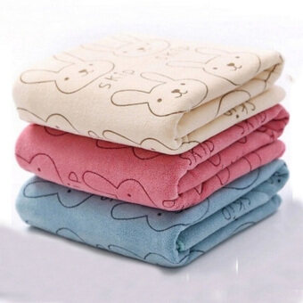Harga 3pcs Cute Rabbit Baby Infant Newborn 20x50CM Bath Towel Washcloth Bathing Cloth Soft - Intl