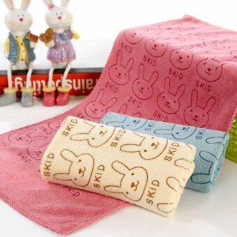 3pcs Cute Rabbit Baby Infant Newborn 20x50CM Bath Towel Washcloth Bathing Cloth Soft - Intl (image 1)