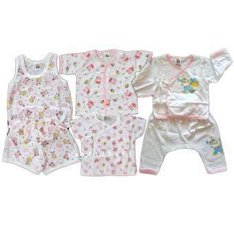 BABYKIDS95 ชุดเด็กอ่อน Size 3--6 เดือน ผ้ายืดนิ่ม เซ็ท 6 ชิ้น (cc-039)
