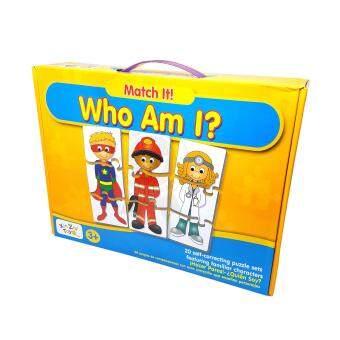 จิ๊กซอว์ ตัวต่อ จับคู่ภาพตัวการ์ตูน การสะกดคำ Match-it Who am I 20คำศัพท์