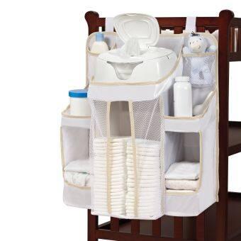 ผ้าอ้อมเด็กผู้ถือออแกไนซ์แคดดี้ผ้าเช็ดทำความสะอาดชั้นวางของทารกการเปลี่ยนกระเป๋าสตางค์คลีนิกที่สะอาด Dex