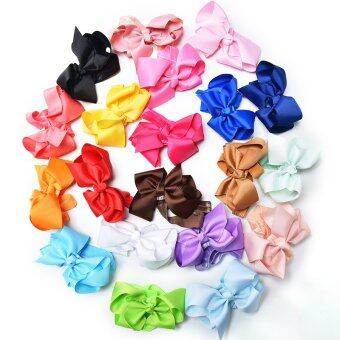 Harga 20Pcs Bow Headbands Girl Elastic Hair Ribbon Fashion Tiara Baby Lovely HairBand