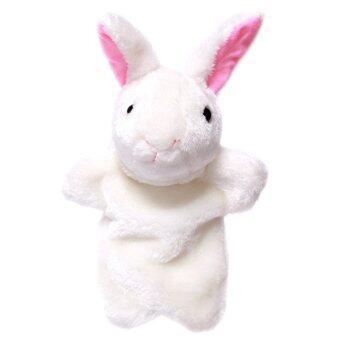 ได้แก่ เฉียวเด็กเล่นตุ๊กตากระต่ายตุ๊กตาหุ่นมือผ้าพลัฌ (สีเบจ)