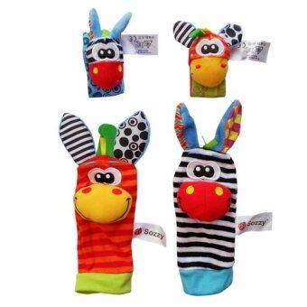 Sozzy สายรัดข้อมือเด็กและถุงเท้าเด็กเสริมพัฒนาการ set 4 ชิ้น