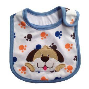 ผ้ากันเปื้อน ผ้าซับน้ำลายเด็ก สีขาวขอบฟ้า dog